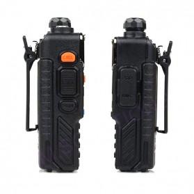Taffware Walkie Talkie Dual Band Radio 5W 128CH UHF+VHF - BF-UV-5RB - Black - 3