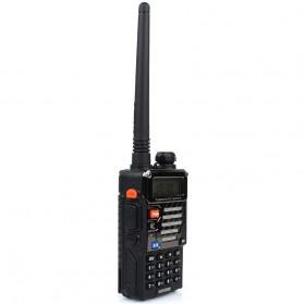 Taffware Walkie Talkie Dual Band Radio 5W 128CH UHF+VHF - BF-UV-5RB - Black - 4
