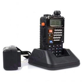Taffware Walkie Talkie Dual Band Radio 5W 128CH UHF+VHF - BF-UV-5RB - Black - 5