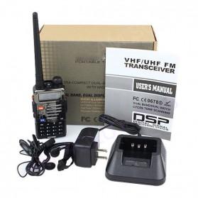 Taffware Walkie Talkie Dual Band Radio 5W 128CH UHF+VHF - BF-UV-5RB - Black - 6