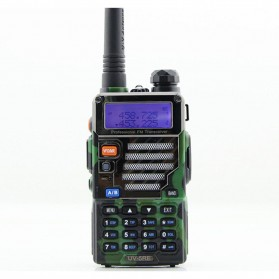 Taffware Walkie Talkie Dual Band 5W 128CH UHF+VHF - BF-UV-5RE - Camouflage