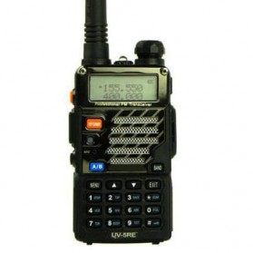 Taffware Walkie Talkie Dual Band 5W 128CH UHF+VHF - BF-UV-5RE - Black