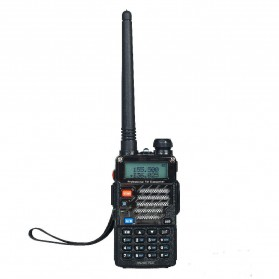 Taffware Walkie Talkie Dual Band 5W 128CH UHF+VHF - BF-UV-5RE Plus - Black