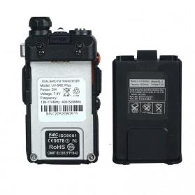 Taffware Walkie Talkie Dual Band 5W 128CH UHF+VHF - BF-UV-5RE Plus - Black - 2