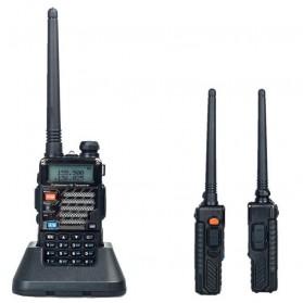 Taffware Walkie Talkie Dual Band 5W 128CH UHF+VHF - BF-UV-5RE Plus - Black - 4