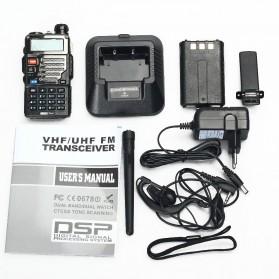 Taffware Walkie Talkie Dual Band 5W 128CH UHF+VHF - BF-UV-5RE Plus - Black - 5