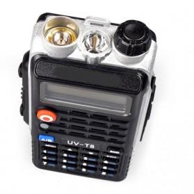 Taffware Walkie Talkie Dual Band Radio 8W 128CH UHF+VHF - UV-T8 - Black - 4