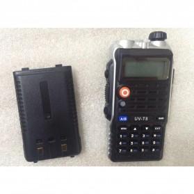 Taffware Walkie Talkie Dual Band Radio 8W 128CH UHF+VHF - UV-T8 - Black - 5