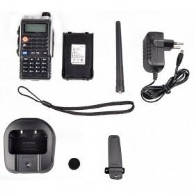 Taffware Walkie Talkie Dual Band Radio 8W 128CH UHF+VHF - UV-T8 - Black - 6