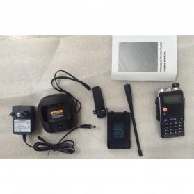Taffware Walkie Talkie Dual Band Radio 8W 128CH UHF+VHF - UV-T8 - Black - 7