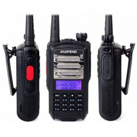Baofeng Walkie Talkie Dual Band 5W 128CH UHF+VHF - CT-3 - Black