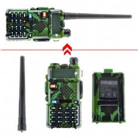 Taffware Walkie Talkie Dual Band 5W 128CH UHF+VHF - UV-5R - Camouflage - 4