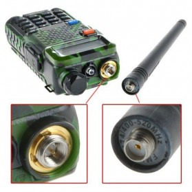 Taffware Walkie Talkie Dual Band 5W 128CH UHF+VHF - UV-5R - Camouflage - 5