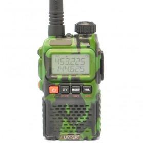 Pofung Taffware Walkie Talkie Dual Band 3W 99CH UHF+VHF - UV-3R Plus - Camouflage
