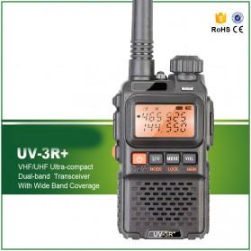 Pofung Taffware Walkie Talkie Dual Band 3W 99CH UHF+VHF - UV-3R Plus - Black