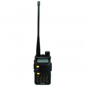 Taffware Walkie Talkie Dual Band 4W 128CH UHF+VHF - BF-UV-5R 4S - Black