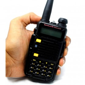 Taffware Walkie Talkie Dual Band 4W 128CH UHF+VHF - BF-UV-5R 4S - Black - 2