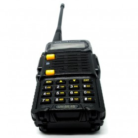 Taffware Walkie Talkie Dual Band 4W 128CH UHF+VHF - BF-UV-5R 4S - Black - 3