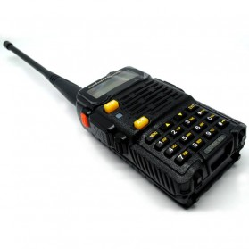Taffware Walkie Talkie Dual Band 4W 128CH UHF+VHF - BF-UV-5R 4S - Black - 4