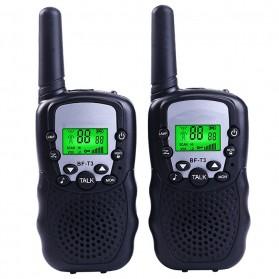 Pofung Taffware Kids Walkie Talkie Single Band 0.5W 22CH UHF 2PCS - BF-T3 - Black
