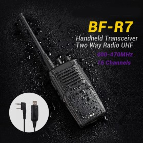 Taffware Walkie Talkie Single Band 3W 16CH UHF - BF-R7 - Black - 1