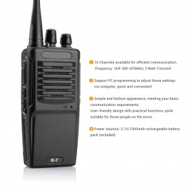 Taffware Walkie Talkie Single Band 3W 16CH UHF - BF-R7 - Black - 2
