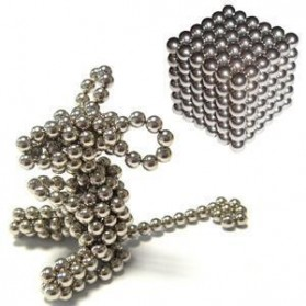 MINOCOOL Buckyballs Neocube Magnet Balls Toys 216 PCS 3mm - TH007004A - Silver - 3