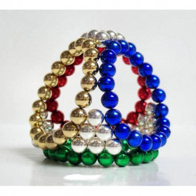 MINOCOOL Buckyballs Neocube Magnet Balls Toys 216 PCS 3mm - TH007004A - Black - 5