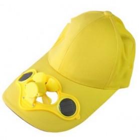 Topi Kipas Tenaga Solar - Yellow