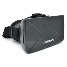 Taffware Cardboard VR Box Head Mount Plastic Version 3D Virtual Reality for Smartphone - Black