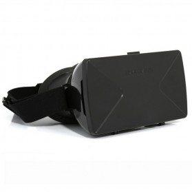 Taffware Cardboard VR Box Head Mount Plastic Version 3D Virtual Reality for Smartphone - Black - 2
