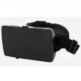 Taffware Cardboard VR Box Head Mount Plastic Version 3D Virtual Reality for Smartphone - Black - 3