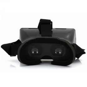 Taffware Cardboard VR Box Head Mount Plastic Version 3D Virtual Reality for Smartphone - Black - 4