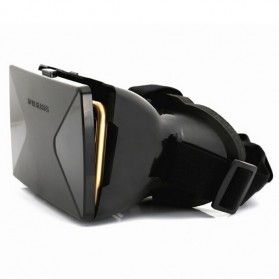Taffware Cardboard VR Box Head Mount Plastic Version 3D Virtual Reality for Smartphone - Black - 6