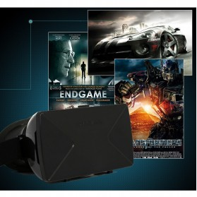 Taffware Cardboard VR Box Head Mount Plastic Version 3D Virtual Reality for Smartphone - Black - 8