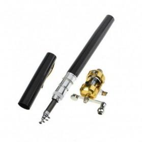 Fish Pen Mini Portable Extreme Rod Length 1M / Joran Pancing Pena - Black - 3