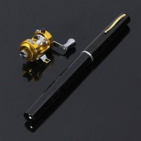 Fish Pen Mini Portable Extreme Rod Length 1M / Joran Pancing Pena - Black - 4