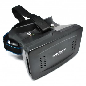 Taffware Cardboard VR Box Head Mount Second Generation 3D Virtual Reality - Black