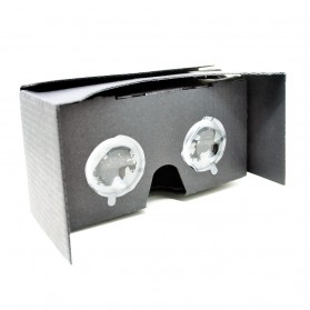 Cardboard Virtual Reality 2nd Generation for Smartphone up to 6 Inch - Big Lens - Black