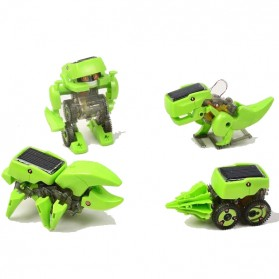 4 in 1 Transforming Solar Robot Science & Education DIY Toys Kids - Green