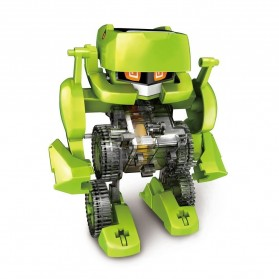 4 in 1 Transforming Solar Robot Science & Education DIY Toys Kids - Green - 3