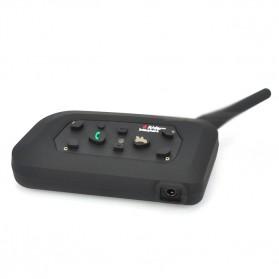 Motorcycle Helmet Bluetooth Interphone Headset 1200 Meter - V6-1200 - Black - 3