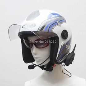 Motorcycle Helmet Bluetooth Interphone Headset 1200 Meter - V6-1200 - Black - 7