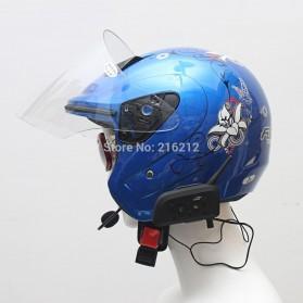 Motorcycle Helmet Bluetooth Interphone Headset 1200 Meter - V6-1200 - Black - 8