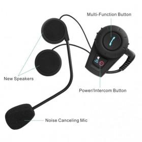 Interphone Headset Helm Motor Bluetooth 500 Meter - FDC-01 - Black