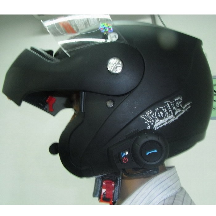 interphone headset helm motor bluetooth 500 meter fdc 01 black. Black Bedroom Furniture Sets. Home Design Ideas