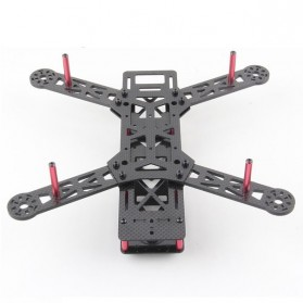 Glass Fiber Frame Kit 4 Axis for Mini FPV Quadcopter H280 3mm - Black