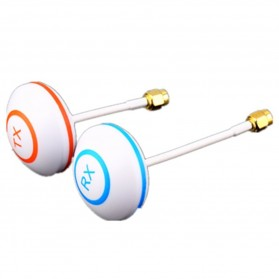 5.8 GHz Circular Polarized Mushroom Antenna TX/RX with SMA Male Plug for FPV - White
