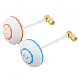 5.8 Ghz Circular Polarized Mushroom Antenna TX/RX with Right Angle SMA Male For FPV - White - 1