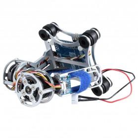 Light DJI Phantom GoPro CNC Brushless Motor Camera Gimbal with BGC ControllerRTF - Silver - 4